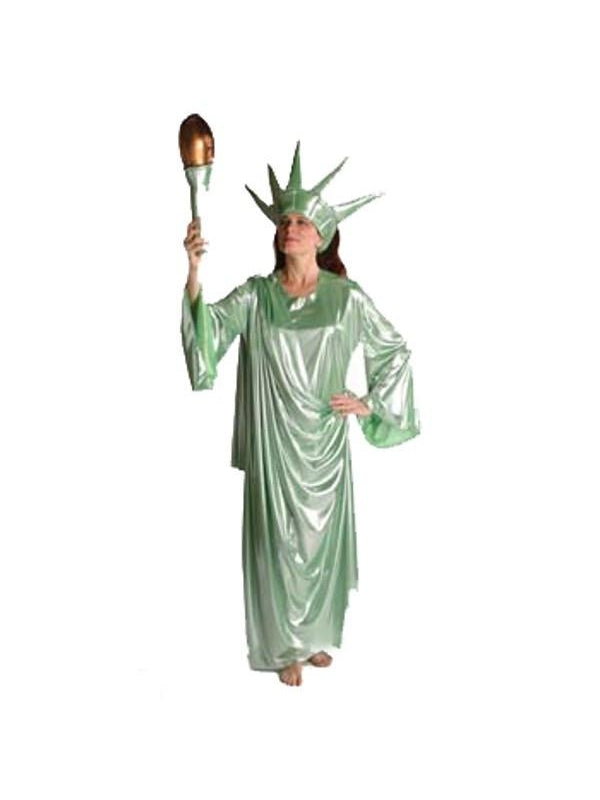 Adult Quality Statue Of Liberty Costume-COSTUMEISH