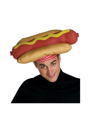 Adult Hot Dog on a Bun Hat