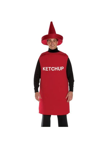 Adult Ketchup Bottle Costume-COSTUMEISH