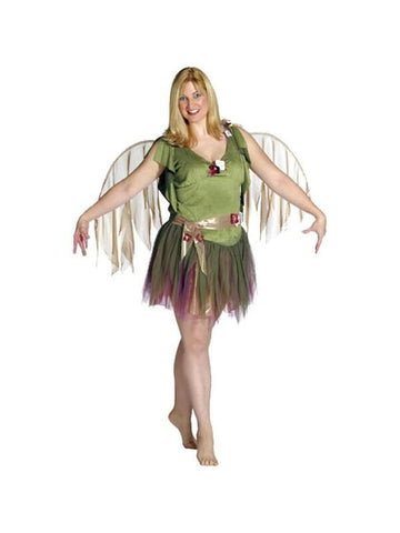 Adult Plus Size Green Fairy Costume-COSTUMEISH