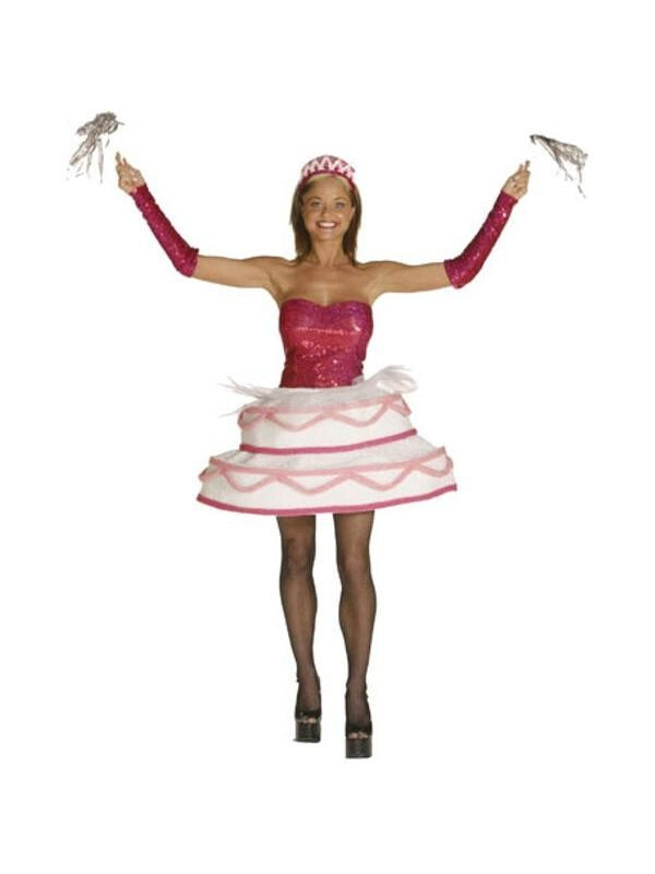 Adult Sexy Birthday Cake Costume-COSTUMEISH