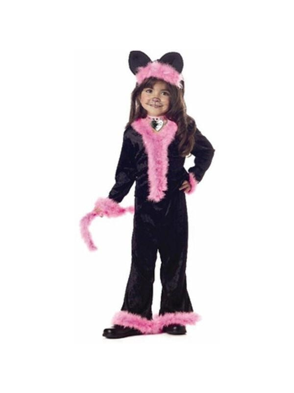 Toddler Pretty Pink Kitty Cat Costume-COSTUMEISH