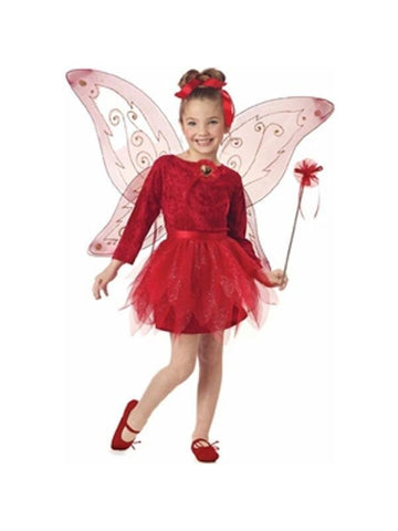 Child's Red Fairy Princess Costume-COSTUMEISH