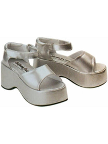 Child's Silver Diva Costume Shoes-COSTUMEISH