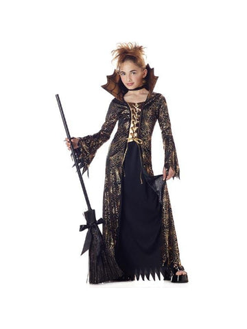 Child's Gold and Black Witch Costume-COSTUMEISH