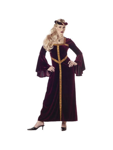 Adult Burgundy Guinevere Costume-COSTUMEISH