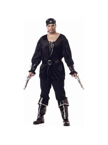 Adult Plus Size Blackheart Pirate Costume-COSTUMEISH