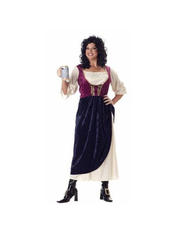 Adult Plus Size Tavern Wench Costume-COSTUMEISH