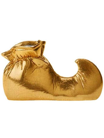 Adult Gold Jester Shoes-COSTUMEISH
