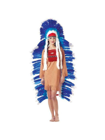 Adult Women's Full Indian Headdress-COSTUMEISH