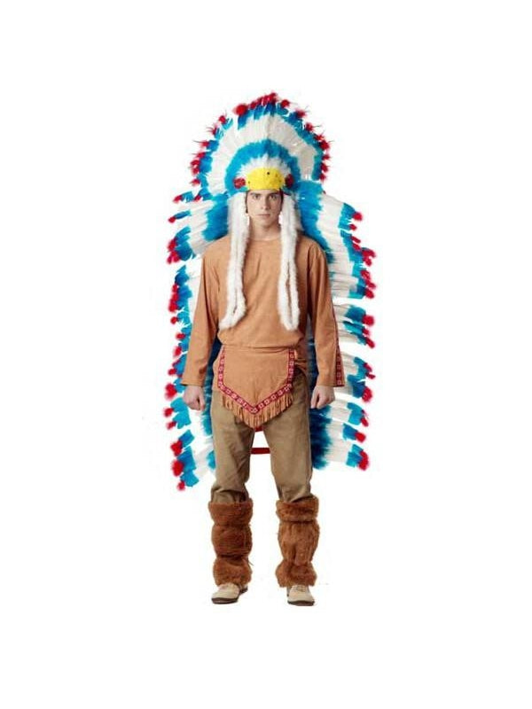 Adult Full-Sized Indian Feather Headdress-COSTUMEISH
