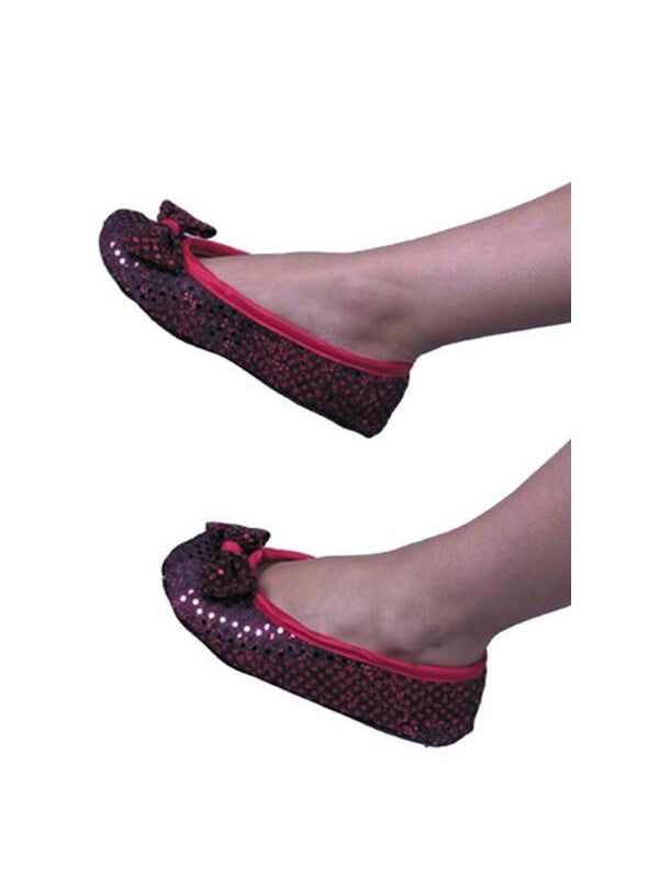 Adult Red Dorothy Costume Shoes-COSTUMEISH