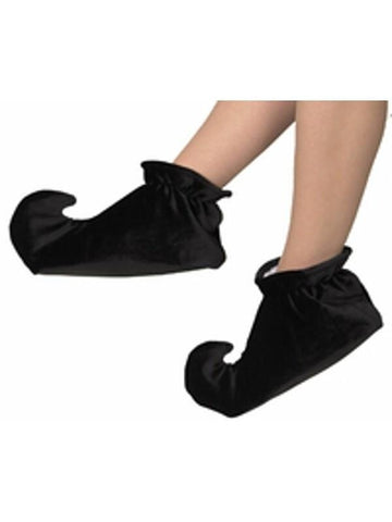 Toddler Black Jester Shoes-COSTUMEISH