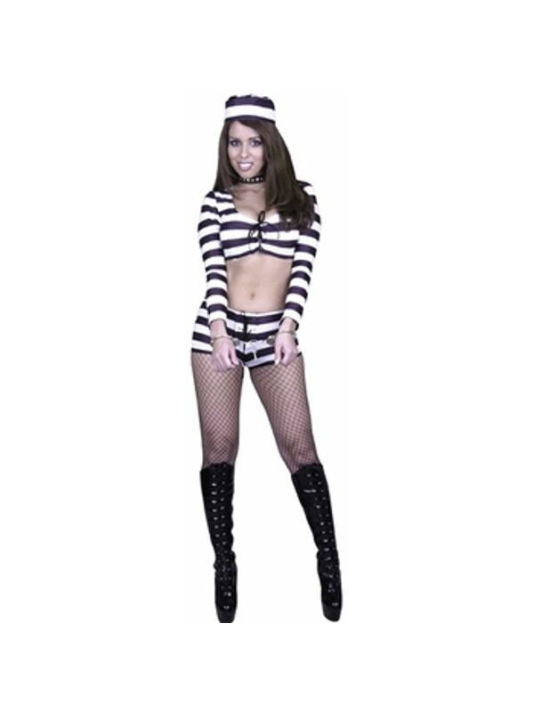 Adult Sexy Prison Costume-COSTUMEISH