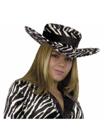 Ladies Zebra Pimp Hat-COSTUMEISH