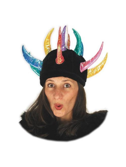 Adult Multi-Colored Horned Hat-COSTUMEISH