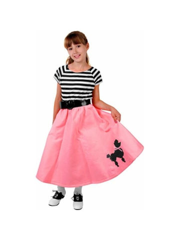 Child's Pink Poodle Dress-COSTUMEISH