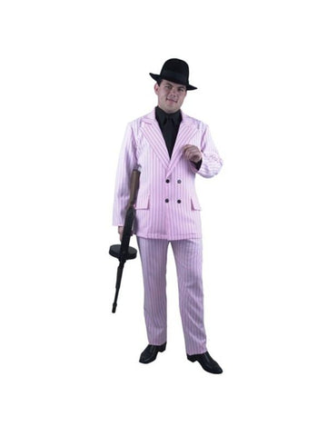 Adult Men's Pink Gangster Suit Costume