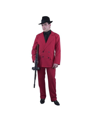 Adult Red Gangster Suit Costume-COSTUMEISH