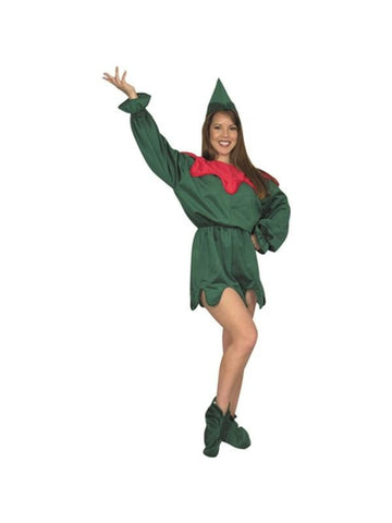 Adult Jester Elf Costume-COSTUMEISH