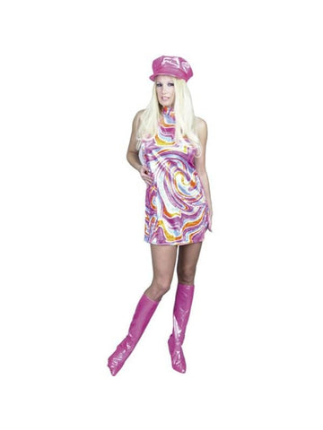 Adult Swirl Go Go Dress Costume