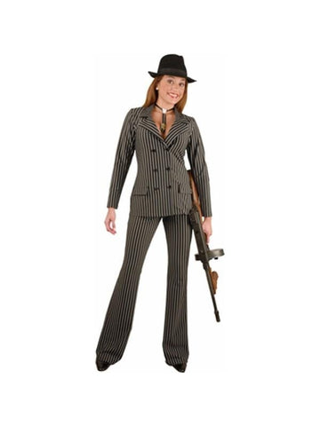 Adult Wide Striped Gangster Costume