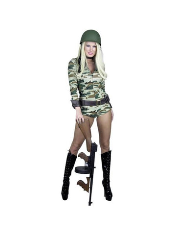 Adult Sexy ARMY Camouflage Bodysuit Costume