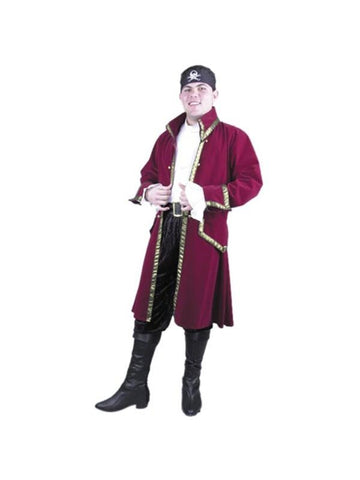Adult Velvet Pirate Captain Costume