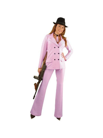 Adult Double Breasted Gangster Moll Suit Costume-COSTUMEISH