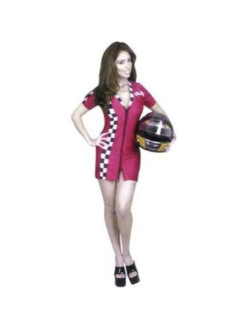Adult Sexy Double Zip Racer Costume