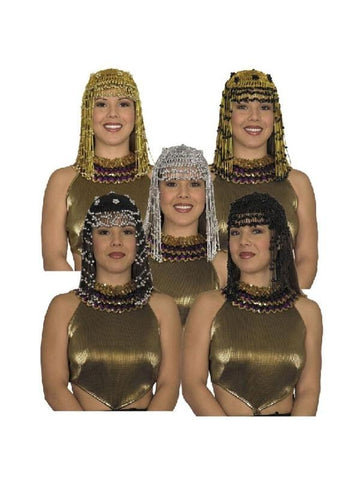 Adult Beaded Cleopatra Headpiece-COSTUMEISH