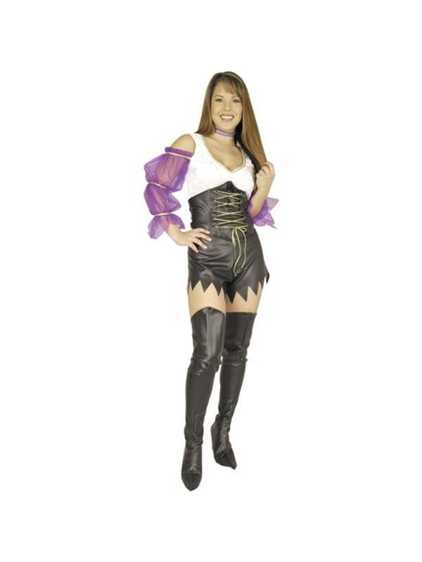 Adult Leatherette Thigh High Boot Covers-COSTUMEISH