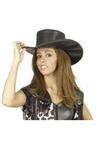 Adult Black Cowgirl Hat-COSTUMEISH
