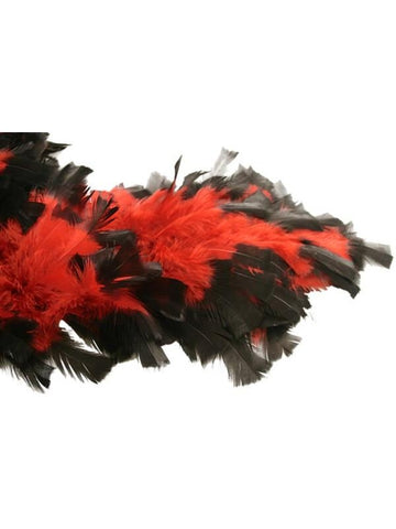 Red/Black Chandelle Feather Boa