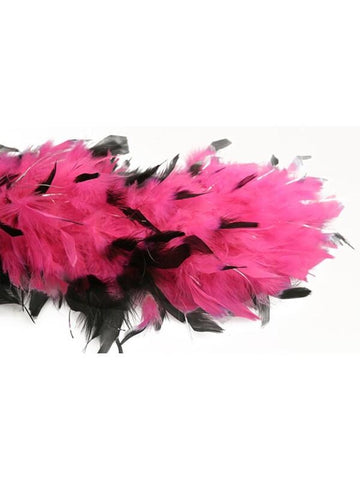 Pink/Black W/Tinsel Feather Boa