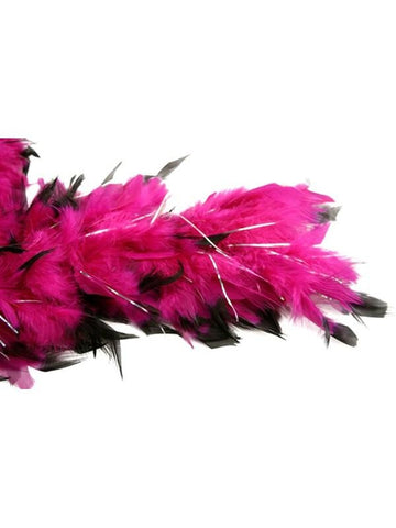 Plum/Black W/Tinsel Feather Boa