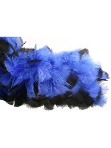 Blue/Black Chandelle Feather Boa