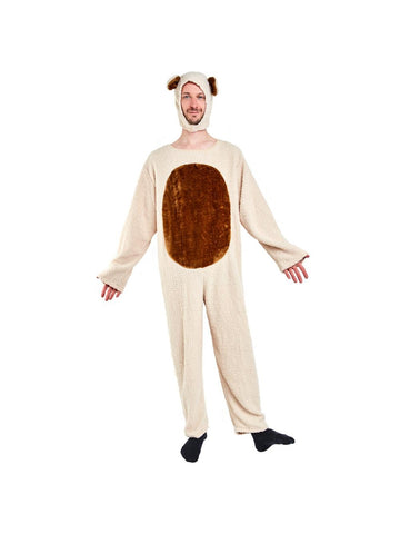 Adult Oatmeal Bear Costume Standard Size