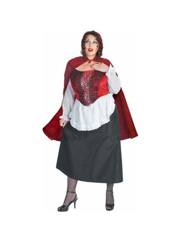 Adult Plus Size Red Riding Hood Costume-COSTUMEISH
