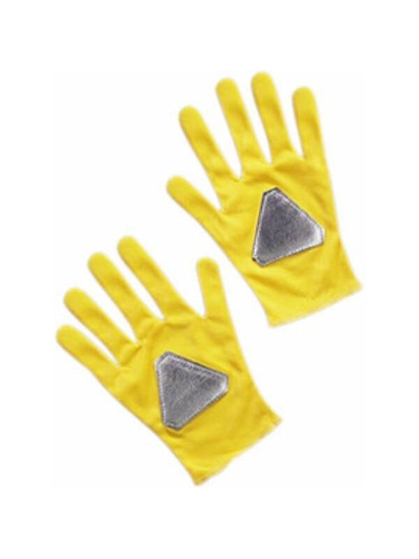 Child's Yellow Power Ranger Gloves-COSTUMEISH