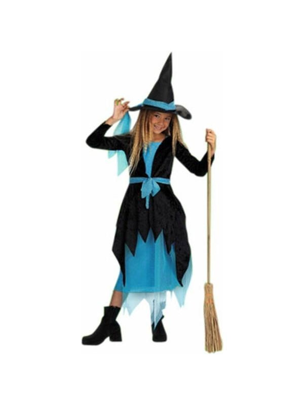 Child's Turquoise Witch Costume-COSTUMEISH