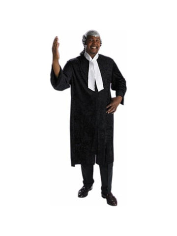 Adult Plus Size Barrister Judge Costume