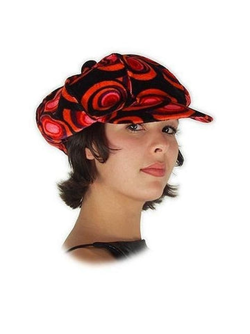 Red & Black Philly Mod Hat-COSTUMEISH
