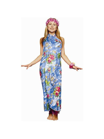 Adult Hawaiian Sarong Dress Costume-COSTUMEISH