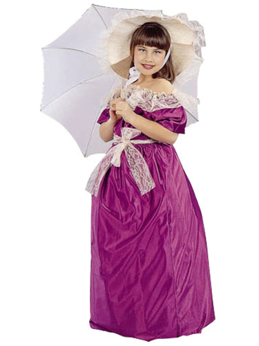 Child's Purple Southern Belle Costume-COSTUMEISH