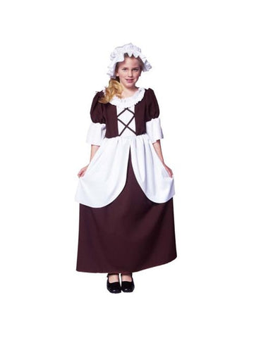 Child's Colonial Girl Costume-COSTUMEISH