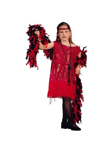 Child Red Sequin Flapper Dress Costume-COSTUMEISH