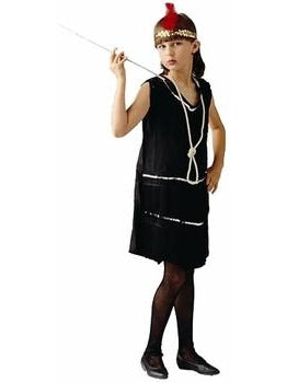 Child DLX Black Flapper Dress Costume-COSTUMEISH
