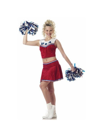Adult Sleeveless Cheerleader Costume