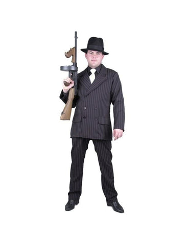 Adult Black/White Gangster Suit Costume